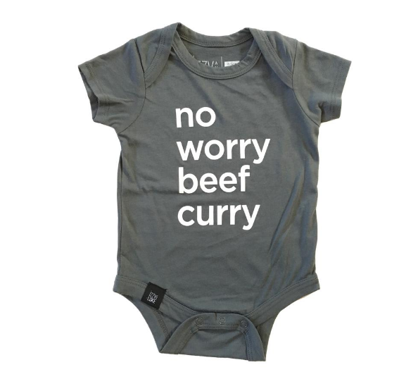 Izzy and Luke | No Worry Beef Curry (Onesie/Tee)