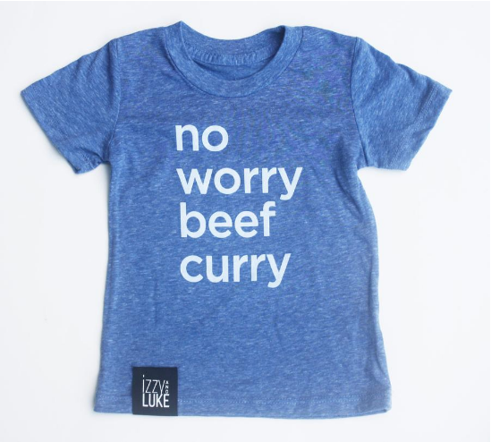 Izzy and Luke - No Worry Beef Curry (Onesie/Tee)