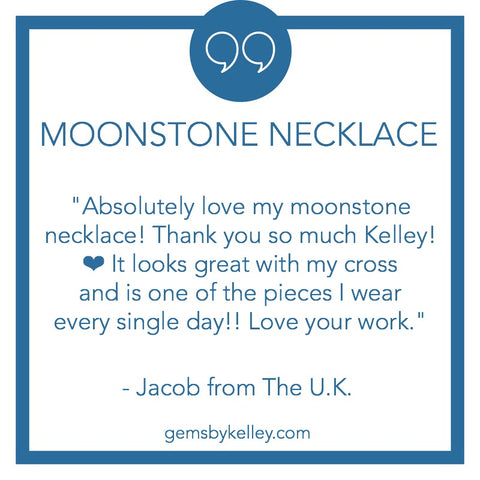 moonstone necklace customer review