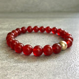 women's, men's carnelian jewelry