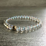 Gold crystal stretchy bracelet