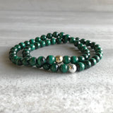 Natural malachite bracelets