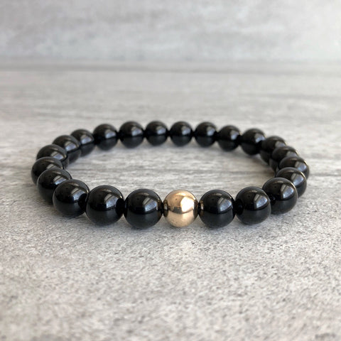 onyx strength mala bracelet black everyday products grande energy japa