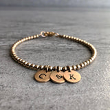 Personalized initial bracelet for mother's day