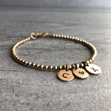 personalized couples bracelet with initals