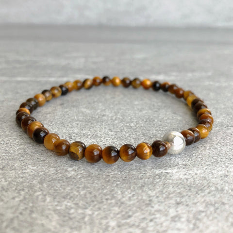 Sterling silver Tiger's Eye bracelet