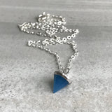 Blue minimalist necklace
