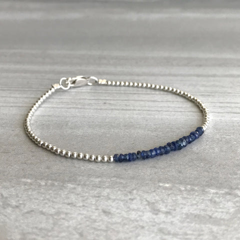 Genuine Sapphire and sterling silver bracelet