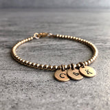 Personalized initial bracelet gift for mom