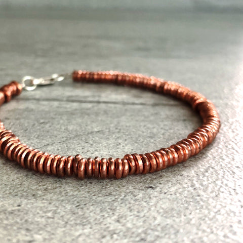 Copper Bead Bracelets | 7th Wedding Anniversary Gift Idea  | Genuine Copper Jewelry