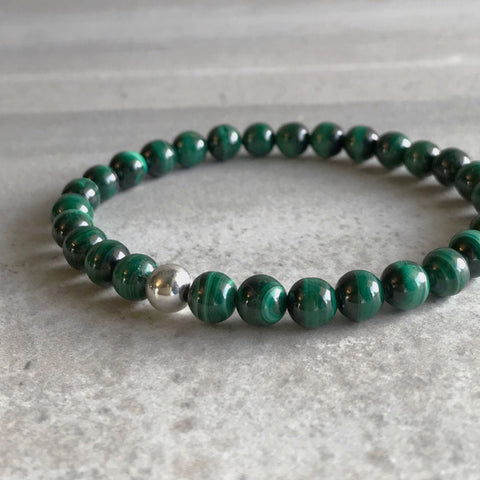 Green gemstone bracelet