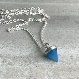Custom length crystal necklace