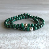 Malachite gemstone bracelets