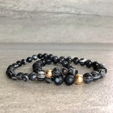 Blacky crystal bracelet set