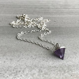 Minimalist amethyst necklace