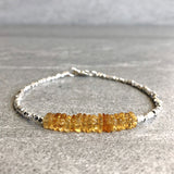 Yellow crystal jewelry