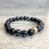 Black stretch beaded bracelet