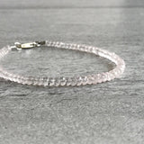 Tiny beaded rose quartz bracelet