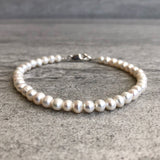 Freshwater pearl bracelet sterling Silver clasp