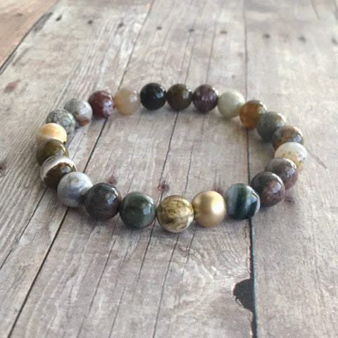 Stretch gemstone bracelet