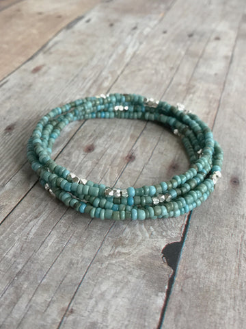 Long beaded necklace or bracelet
