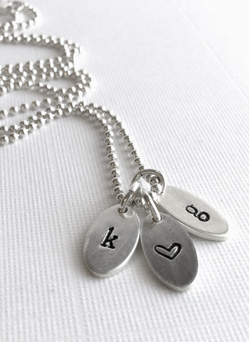 Personalized initial jewelry for couples