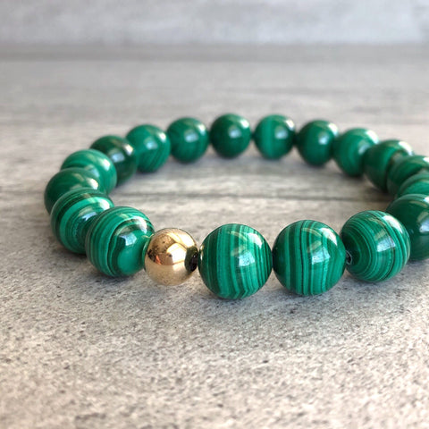 gold malachite bracelet