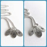 Initial charm necklace gift