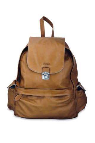 <h5>Daybag Çanta <br> Leather Backpack </h5> <h6>Taba / Dark Tan<br>di-D01-02</h6>