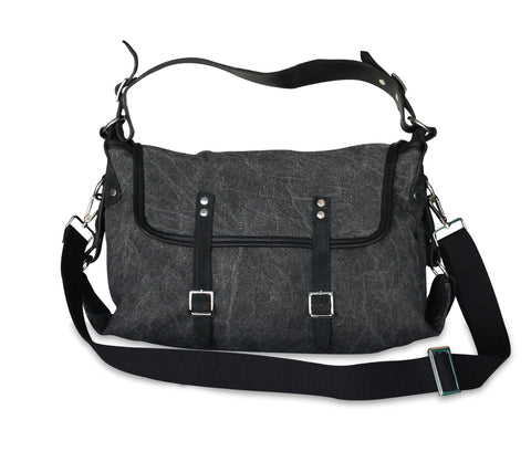<h5>Safari-B Çanta<br>Canvas ShoulderBag</h5><h6>Siyah / Black<br>di-SB01-01</h6>