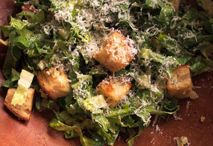 Stuffing-Inspired Caesar Salad