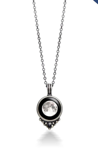 Moonglow Pewter Necklace
