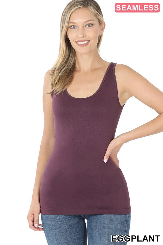 Scoop Neck Seamless Tank