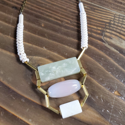 Long Artisan Agate Necklace
