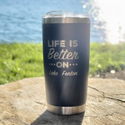 Life Is Better Tumbler - Blue (additional designs)