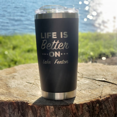 Life Is Better Tumbler - Black (additional options)