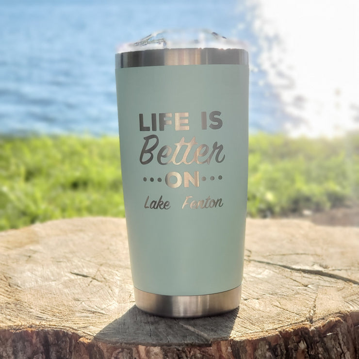 Life Is Better Tumbler - Seafoam (additional options)