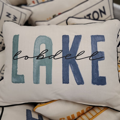 Lobdell Lake Blue Tones Pillow