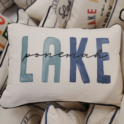Lake Ponemah Blue Tones Pillow