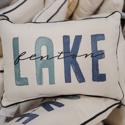 Lake Fenton Blue Tones Pillow