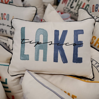Tipsico Lake Blues Tone Pillow