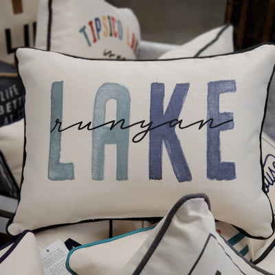 Runyan Lake Blues Tone Pillow