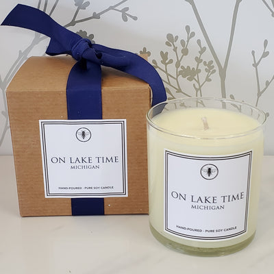 On Lake Time Candle