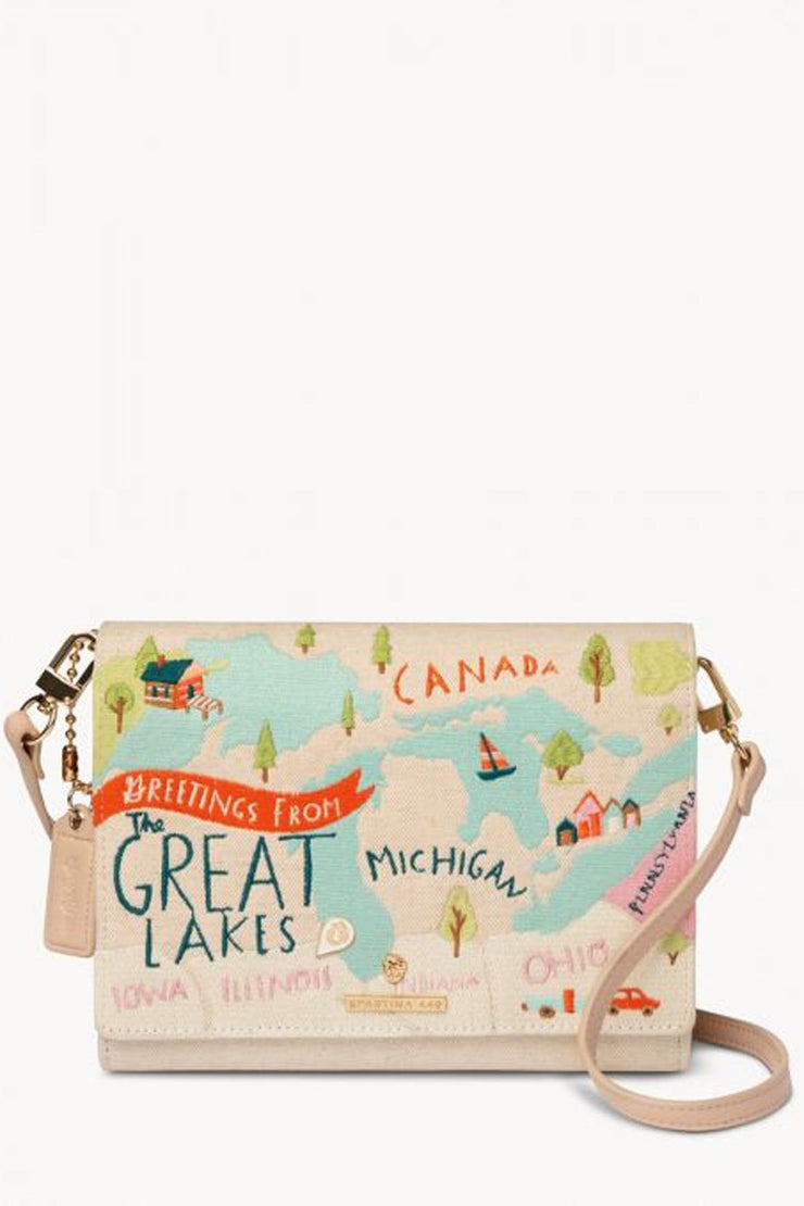 Great Lakes Embroidered Convertible Crossbody