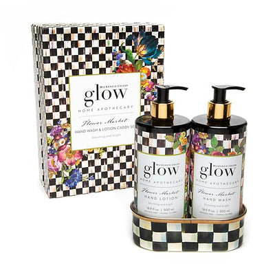 Flower Market Soap & Lotion Caddy Set