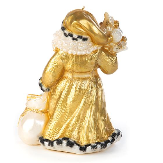 Night Before Christmas Santa Candle - Gold