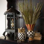Finial Candle - Black & Ivory