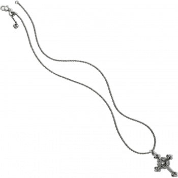 Alcazar Heart Small Cross Necklace