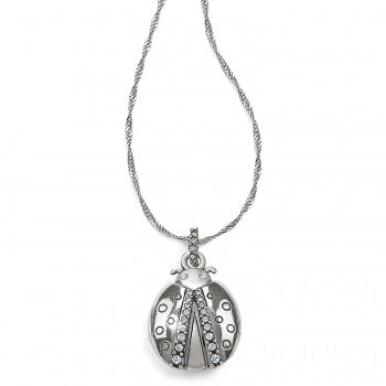 Trust Your Journey Lady Bug Reversible Necklace