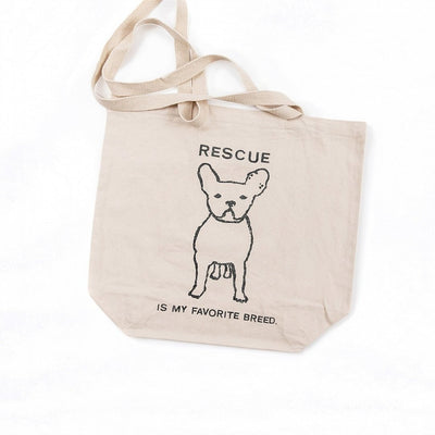 Rescue Is My Favorite Breed Canvas Tote Bag